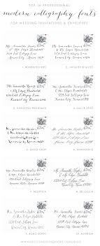 top 10 best professional modern calligraphy fonts for wedding invitations envelopes