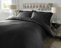 hotel quality luxury satin stripe duvet cover single