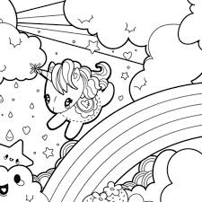 Cute Unicorn Coloring Pages Printable Coloring Page For Kids