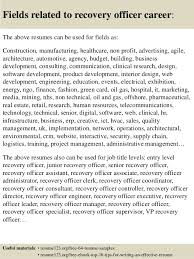 Recovery Officer Sample Resume Top 100 recovery officer resume samples 2