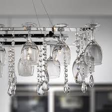 vin chrome wine glass 10 light pendant