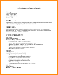 Office Job Resume Sample 10 11 Examples Of Resumes For Office Jobs Elainegalindo Com