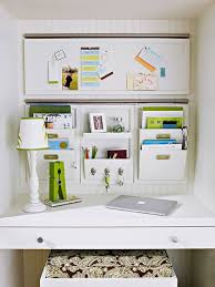 how to organize office space. convert a small desk into great office space with wall pockets and bulletin board how to organize e