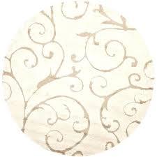 safavieh florida rugs round area rugs cream beige 5 ft 5 ft round area rug