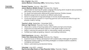 Education Resume Template Medium Length Graduate Cv Resume