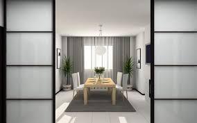 japanese minimalist furniture. Dining Room In Japanese Style: Minimalist Furniture, White Walls, Plants Furniture N