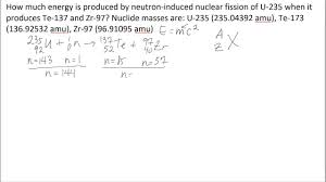 calculating energy from fission
