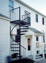 outdoor spiral staircase a perfect solution of small space