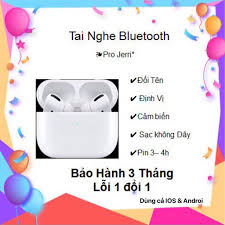 50 MÃ CHUNPRO12 GIẢM 100K HSD:1 TUẦN Tai Nghe bluetooth Pro TWS đổi tên  định vị bảo hành 3 tháng chính hãng 450,000đ