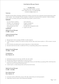 Sample Bank Manager Resume Bank Assistant Manager Resume Template Templates At