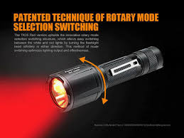 Fenix Lights Fenix Tk25 Red 1000 Lumen Hunting Flashlight W 3500mah 18650 Battery Charger