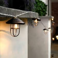 outdoor lantern string lights awesome 10 led battery garden
