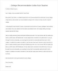 Sample Of Recommendation Letter For Teacher Barca