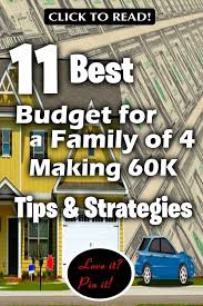 Budgeting For A Family Of 4 11 Best Budget For Family Of 4 Making 60k Tips Strategies