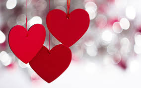 red hearts sparkle lovely