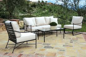 iron patio furniture. The Provence 4 Piece Wrought Iron Outdoor Sofa Set Is An Elegant Way To  Outfit Your Patio Furniture