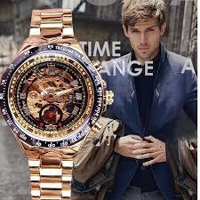 Winner Sport Design Bezel Golden <b>Watch Mens Watches Top</b> ...