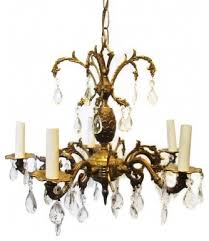 spain chandeliers brass spanish traditional vintage chandelier crystal crystal from chandelier