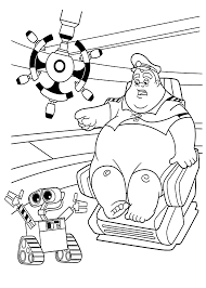 Wall E And Captan Coloring Pages
