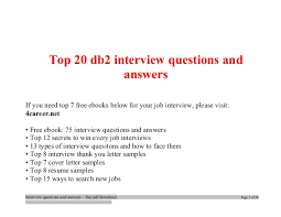 Top Db2 Interview Questions And Answers Job Interview Tips