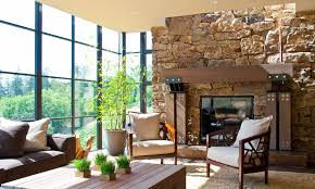 modern home architecture stone. Wonderful Stone Arteriors Architects California Modern Stone House Living Room Inside Home Architecture C