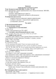 Справка по результатам контрольных работ за четверть Конспект урока русского языка во 2 классе Тема Буквосочетания