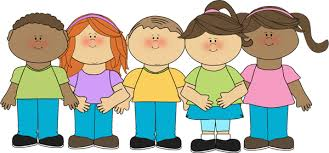 Image result for kids standing in a row clip art