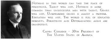Calvin Coolidge Quotes Persistence Interesting Photo Of The Week President Calvin Coolidge Persistence