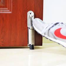 Image is loading Luxury-Stainless-Steel-Telescopic-Door-Stopper -Spring-Loaded-