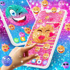 Emoji glitter live wallpaper for ...