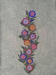 ebru art turkish art silk art water marbling pour painting textile art paper art kaftan painted flowers