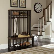 Wooden Coat And Shoe Rack Furniture Black Stained Wooden Hall Tree Bench With Shoe Rack Plus 49
