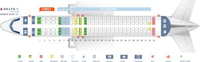 A320 Airbus 100 200 Seating Chart Seat Map Airbus A320 200 Delta Airlines Best Seats In Plane