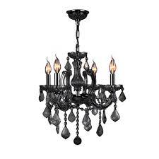 catherine 4 light crystal chandelier crystal color black