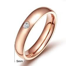 Knsam Stainless Steel Rings Womens Mens Wedding Bands