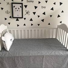 fashion newborn baby bed sheets black white crib quilt infant baby bedding 100 cotton cute