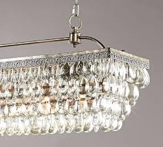 glass drop chandelier crystal drop rectangular chandelier pottery barn clarissa glass drop rectangular chandelier installation