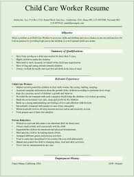 Child Care Resume Template Magnificent Child Care Worker Resume Template Yelommyphonecompanyco