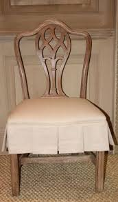 dining chair with slipcovered seat