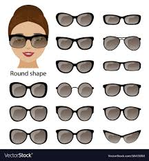 spectacle frames and round face vector image