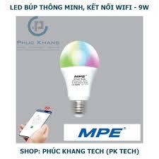 Bảng giá Đèn Led thông minh MPE - Smart Wifi - Búp 9W - LB-9/SC (Phúc Khang  Tech)