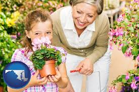 garden centers in maryland. Exellent Maryland A Grandmother And Her Granddaughter At Garden Center  With Maryland Icon To Garden Centers In R