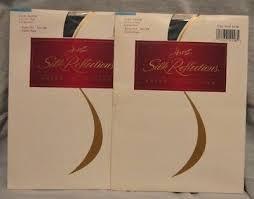 2 Pr Hanes Silk Reflections Sheer Pantyhose Size Ef Large