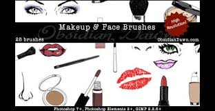 photo makeup face sketches brushes scribble doodle