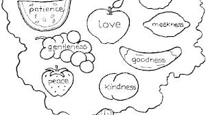 Fruit Of The Spirit Coloring Page Free Printable Holy 7 Gifts