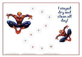 Spiderman Reward Chart Spiderman Toilet Training Charts Noahs Potty Training