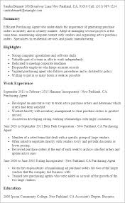 Resume Templates: Purchasing Agent