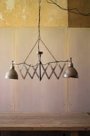 kalalou dirty silver twin lamp with canopy