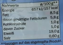 Mozzarella Light Nutrition Facts Mozzarella Light Lovilio 125g Abgetropft 200g Nettofüllmenge