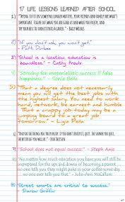best life lessons learned after leaving school life lessons 1